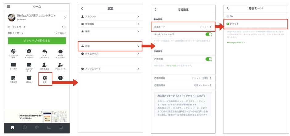 管理 画面 line 公式 アカウント